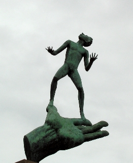 Carl Milles sculpture, Hand of God, Stockholm, Sweden