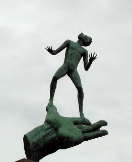 Carl Milles sculpture, Hand of God, Stockholm, Sweden