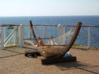 Private deck NCL Norwegian Pearl