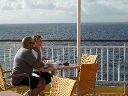 Eating outdoors NCL Norwegian Pearl