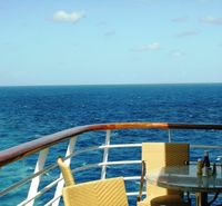 Carnival Fantasy favorite outside table