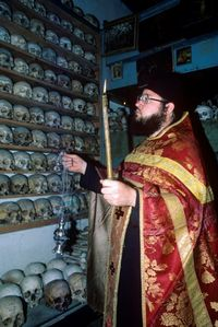 Monks skulls at Mount Athos, Greece (Photo by Dave G. Houser)