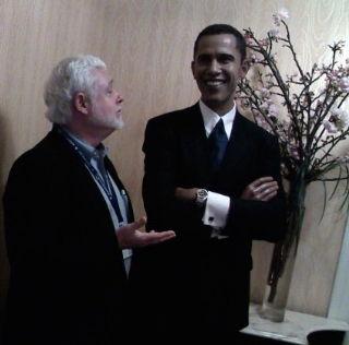 President Obama image and David Molyneaux in Washington