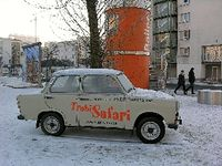 Trabant on safari in Berlin, Germany (David G. Molyneaux, TheTravelMavens.com)
