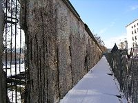 Berlin Wall in 2009, East Berlin on the right. (Photo by David G. Molyneaux, TheTravelMavens.com)