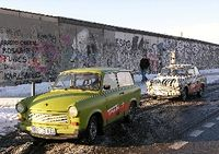 Trabi Safari Tour in Berlin Germany along the Berlin Wall (Photo by David G. Molyneaux, TheTravelMavens.com)