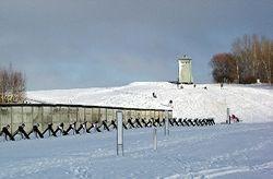 Sledding at Hoetensleben, Germany, at old East German border along the Iron Curtain (Photo by David G. Molyneaux, TheTravelMavens.com)