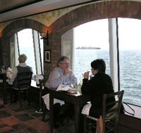 La Cucina restaurant on Norwegian Gem, cruising out of New York in winter. (Photo by David G. Molyneaux, TheTravelMavens.com)