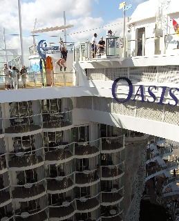 Ziplining on Oasis of the Seas (Photo by David G. Molyneaux, TheTravelMavens.com)