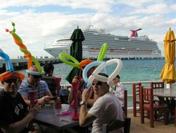 Passengers from Carnival Dream take their party to the port of Cozumel, Mexico (Photo by David G. Molyneaux, TheTravelMavens.com)