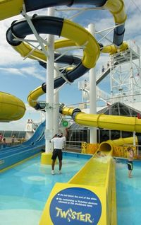 Twister waterslide on the Carnival Dream (Photo by David G. Molyneaux, TheTravelMavens.com)