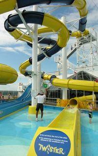 Twister waterslide on the Carnival Dream (Photo by David G. Molyneaux, TheTravelMavens.com)