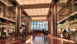Manhattan Room on Norwegian Epic (a rendering)