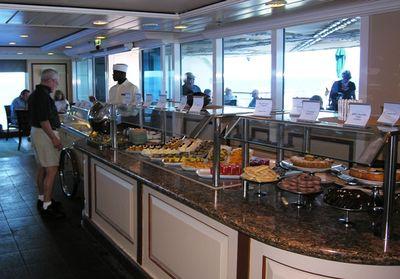Azamara Journey, Windows Cafe, desert selection at lunch (Photo by David G. Molyneaux, TheTravelMavens.com)