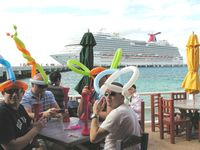 Passengers from Carnival Dream at port of Cozumel (photo by David G. Molyneaux, TheTravelMavens.com)