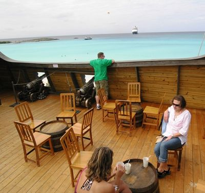 Nice view from Captain Morgan bar Half Moon Cay (Photo by David G. Molyneaux, TheTravelMavens.com)