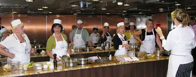 Learning to cook on Oceania Marina with Bon Appetit (Photo by David G. Molyneaux, TheTravelMavens.com)