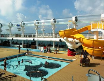 AquaDuck above the pool deck on Disney Dream (Photo by David G. Molyneaux, TheTravelMavens.com)