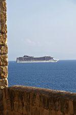 MSC Splendida off coast of Naples, Italy