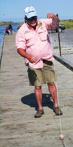 Captain Sammie Faulk, fishing and crabbing guide (Photo by David G. Molyneaux, TheTravelMavens.com)