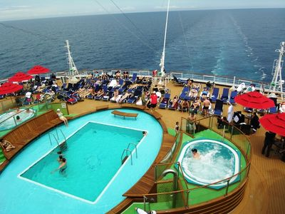 The aft deck on Carnival Magic (Photo by David G. Molyneaux, TheTravelMavens.com)