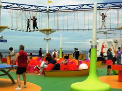 Walking the ropes course on the Carnival Magic (Photo by David G. Molyneaux, TheTravelMavens.com)
