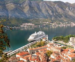 Seabourn Odyssey docked in Kotor, Montenegro (Photo by David G. Molyneaux, TheTravelMavens.com)