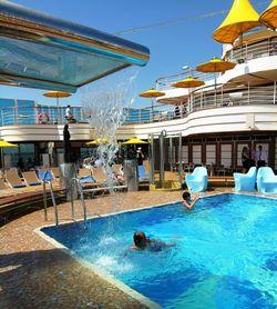 Pool on Costa Favolosa (Photo by David G. Molyneaux, TheTravelMavens.com)