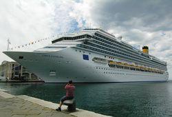 Costa Favolosa docked in Trieste, Italy, for the naming ceremony July 2, 2011. (Photo by David G. Molyneaux, TheTravelMavens.com)
