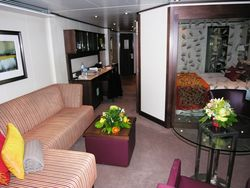 Seabourn Odyssey's Penthouse Suite (Photo by David G. Molyneaux, TheTravelMavens.com)