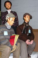 Dickens mannequins in Cambridge, Ohio (TheTravelMavens.com)