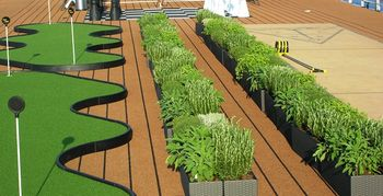 Herb garden on Viking Odin  (Photo by David G. Molyneaux, TheTravelMavens.com)