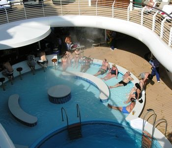 Adults hide from the kids on Disney Fantasy (Photo by David G. Molyneaux, TheTravelMavens.com)