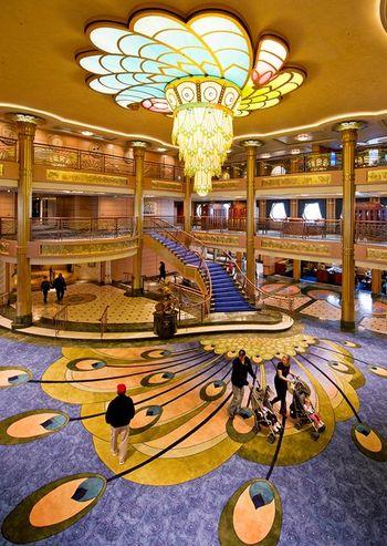 Atrium on the Disney Fantasy (Photo by Matt Stroshane. Disney Cruise Line)