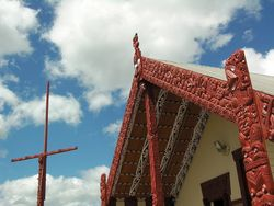 Maori Village at  Whakarewarewa Thermal Reserve in Rotorua, New Zealand (photo by David G. Molyneaux, TheTravelMavens.com)