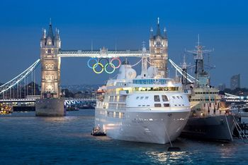 Silversea's Silver Cloud in London at 2012 Olympics