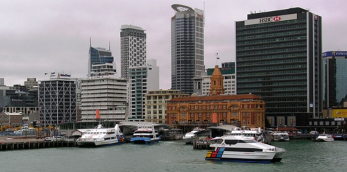 Harbor in Auckland, New Zealand