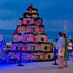 Lobster Trap Christmas Tree at Key West's Historic Seaport. Photo by Rob O'Neal