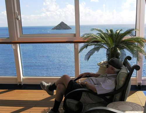 Relaxing on Oceania Cruises' Riviera in the Caribbean (Photo by David G, Molyneaux, TheTravelMavens.com)