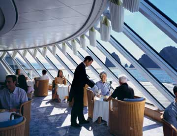 Tea time in Palm Court on Crystal Serenity (Picture from Crystal Cruises)