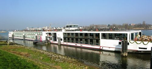 The new 190-passengerViking Odin, built for cruising Europe's rivers, is 434 feet long, with nine suites and 39 other cabins that also open to private outdoor balconies. (Photos by David G. Molyneaux, TheTravelMavens.com)