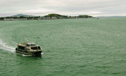 View of the harbor at Auckland, New Zealand, from the Hilton hotel (Photo by David G. Molyneaux, TheTravelMavens.com)