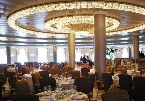 In Oceania Marina's grand dining room, you'll find any size table you want. (Photo by David G. Molyneaux, TheTravelMavens.com)
