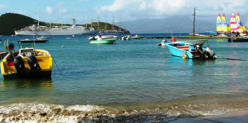 Near the dock on Les Saintes, French West Indies (Photos by David G. Molyneaux, TheTravelMavens.com)