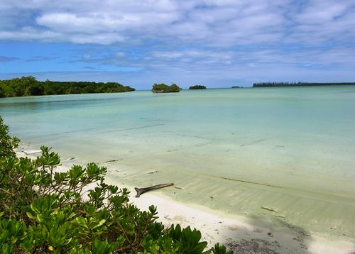 "Among the islands that cruise ships from Australia visit in New Caledonia is quiet Isle of Pines, home of secluded beaches that include this one where a French reality ""Survivor"" show was filmed.  (Photo by David G. Molyneaux, TheTravelmavens.com)"