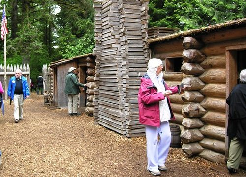 Rainy day at Fort Clatsop (Photo by David G. Molyneaux, TheTravelMavens.com)