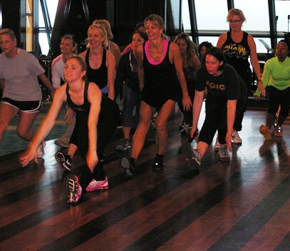 Rockettes lead an exercise class on Norwegian Breakaway (Photos by David G. Molyneaux, TheTravelMavens.com)