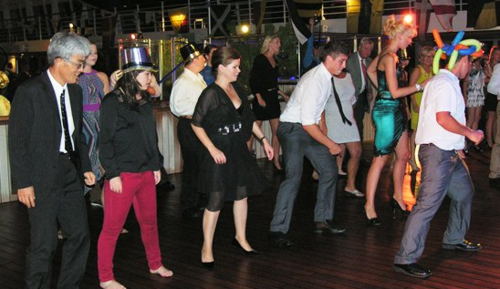 Dancing in the New Year on Riviera (Photo by David G. Molyneaux, TheTravelMavens.com)