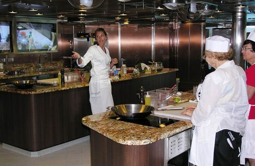 Expert Master Chefs provide cooking instruction at classes in Riviera's Bon Appétit Culinary Center. Cost is $69 (Photo by David G. Molyneaux, TheTravelMavens.com)