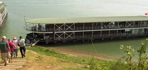 The 32-passenger Avalon Angkor on the Tonle Sap River in Cambodia (Photo by David G. Molyneaux, TheTravelMavens.com)